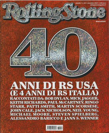 """2007 (N49) * Magazine Cover Rolling Stone Original """"40° Anniversario"""" in Passepartout"""