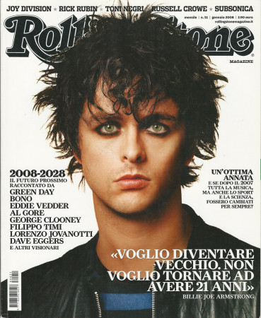 "2008 (N51) * Magazine Cover Rolling Stone Original ""Billie Joe Armstrong"" in Passepartout"
