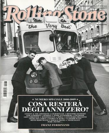 """2009 (N63) * Magazine Cover Rolling Stone Original """"Cosa Resterà Degli Anni Zero?"""" in Passepartout"""