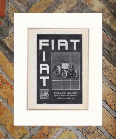 """1921 * Advertising Original """"Fiat - Trattrice"""" in Passepartout"""