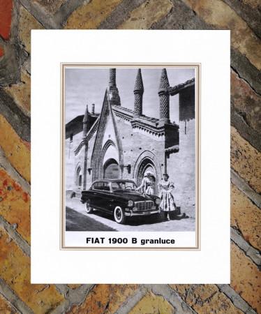 """1950 * Advertising Original """"Fiat - 1900 B Granluce"""" in Passepartout"""