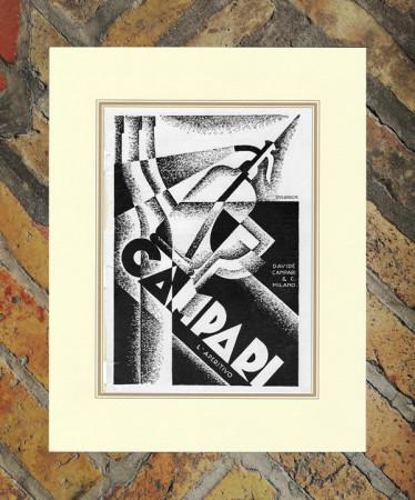 "1928 * Advertising Original ""Campari L'Aperitivo -  DIULGHEROFF"" in Passepartout"