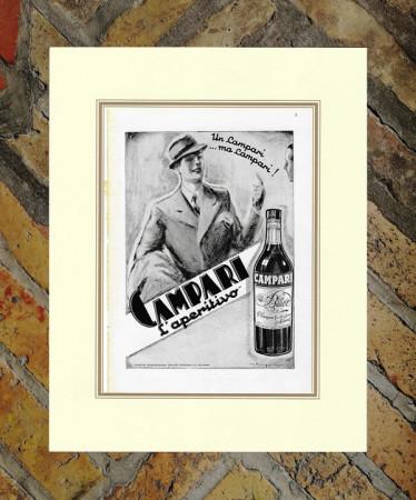 "1936 * Advertising Original ""Campari Bitter L'Aperitivo -  MUGGIANI GIORGIO"" in Passepartout"