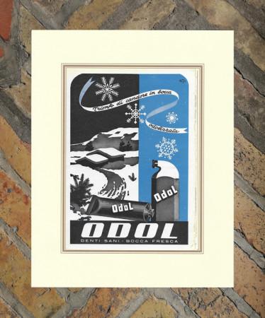 """1943 * Advertising Original """"Toothpaste ODOL - DUSE MARIO"""" in Passepartout"""