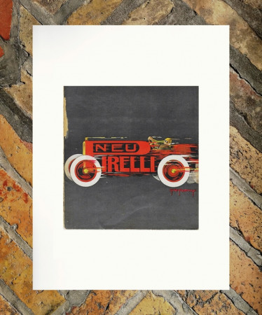 "1914 * Advertising Original ""Pirelli - Pneus - H.L ROOWY"" in Passepartout"