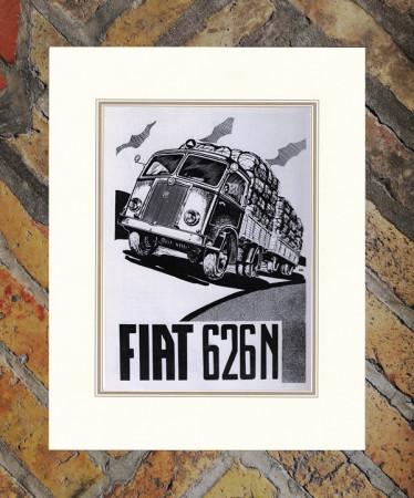 """1936 * Advertising Original """"Fiat - 501 - Piccola Grande Vettura"""" in Passepartout"""
