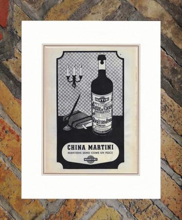 "1948 * Advertising Original ""Martini - China - ARMANDO TESTA"" in Passepartout"