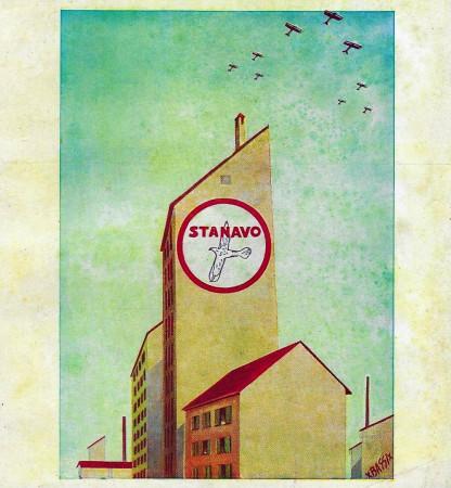 "1932 * Advertising Original ""Stanavo - Stabilimento - BASSI"" in Passepartout"