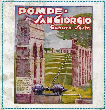 "1928 * Advertising Original ""Pompe San Giorgio - Genova-Sestri - BIANCHI"" in Passepartout"