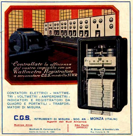 """1930 * Advertising Original """"CGS - Controllate La Efficienza - PROUS"""" in Passepartout"""