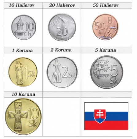Mixed Years * Series 7 coins Slovakia