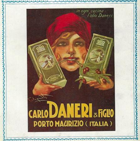 """1929 * Advertising Original """"Carlo Daneri - In Ogni Cucina  l'Olio Daneri - CODOGNATO"""" in Passepartout"""