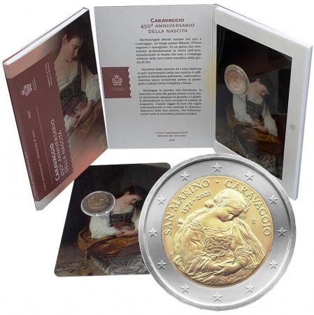 """2021 * 2 Euro SAN MARINO """"450th Anniversary of the Birth of Caravaggio"""" BU"""