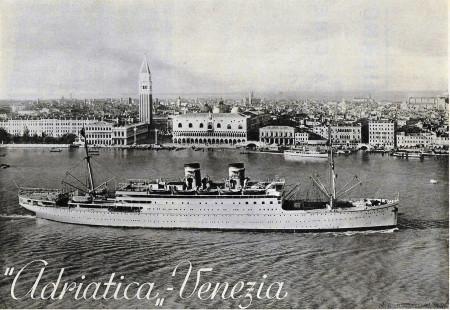 """1938 * Advertising Original """"Adriatica - Venezia"""" in Passepartout"""