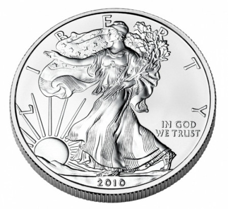 "2010 * 1 Dollar Silver 1 OZ United States ""Liberty - Silver Eagle"" UNC"