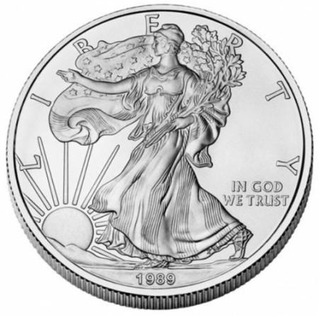 "1989 * 1 Dollar Silver 1 OZ United States ""Liberty - Silver Eagle"" UNC"