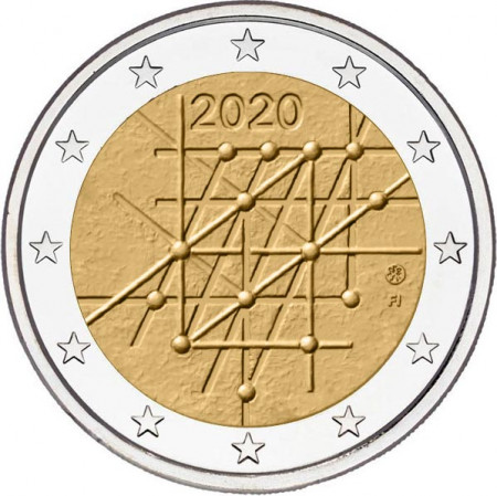"2020 * 2 Euro FINLAND ""100 years since the foundation of the University of Turku"" UNC"