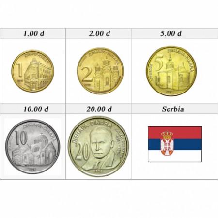2012 * Series 5 dinara coins Serbia