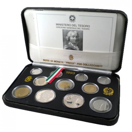 1993 * Italy Official lire Coin Set proof