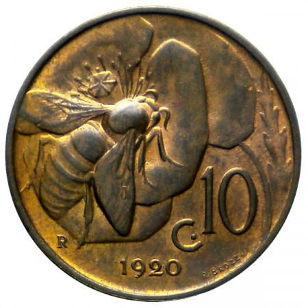 1920 * 10 Cents copper Italy Victor Emmanuel III Honey Bee UNC