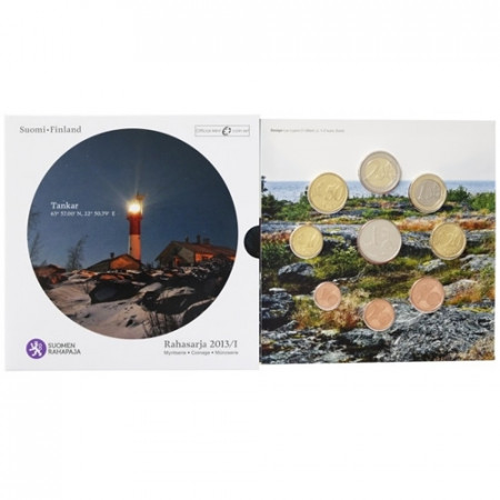 2013 * FINLAND Official Euro Coin Set Lighthouse Tankar