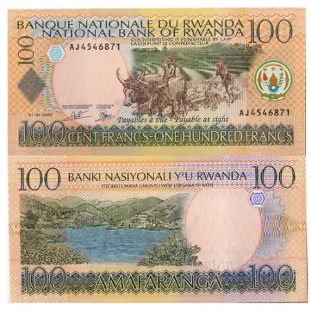 2003 * Banknote Rwanda 100 Francs (p29) UNC
