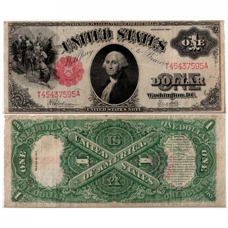 1917 * Banknote United States 1 dollar F George Washington