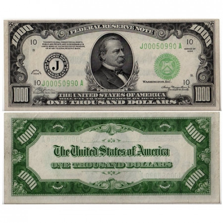 1934 * Banknote United States 1000 dollars AU Grover Cleveland
