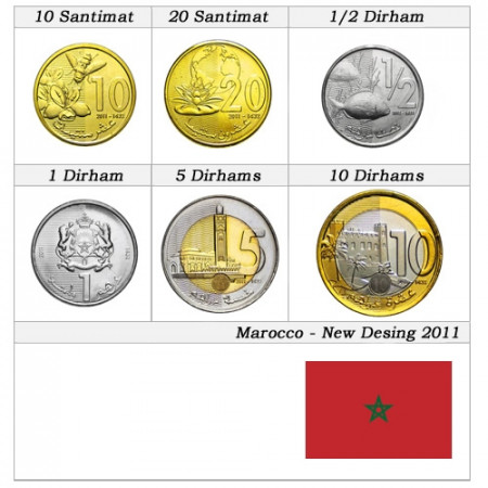 2011 * Series 6 coins Morocco New Design