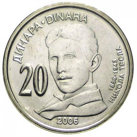 2006 * 20 dinara Serbia 150th Nikola Tesla