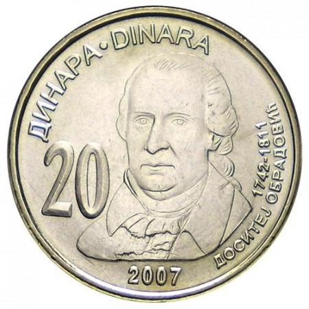 2007 * 20 dinara Serbia Dositej Obradovic