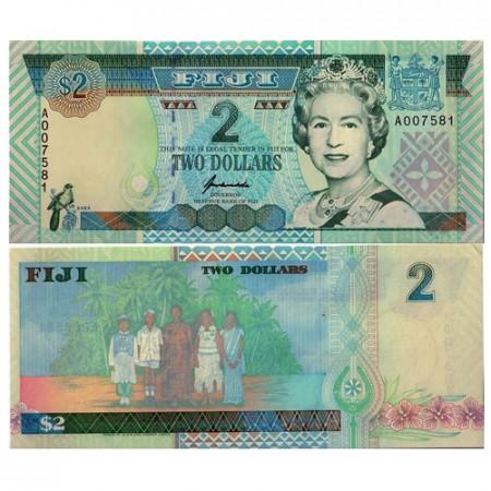 "ND (1996) * Banknote Fiji 2 Dollars (p96) ""Elizabeth II"" UNC"