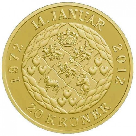 2012 * 20 kroner Denmark 40th United Margrethe II