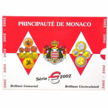 2002 * Official MONACO Euro Coin Set FDC