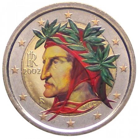 2002 * 2 euro ITALY Dante Alighieri colored