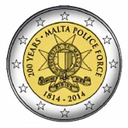 2014 * 2 euro MALTA 200th Malta Police Force