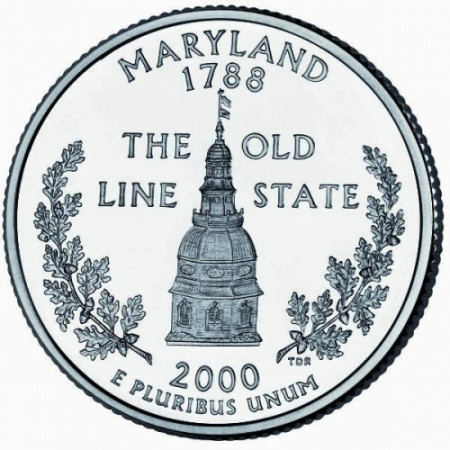 2000 * Quarter dollar United States Maryland (D)