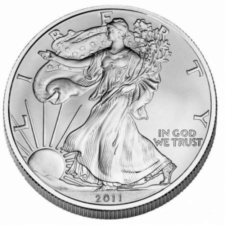 "2011 * 1 Dollar Silver 1 OZ United States ""Liberty - Silver Eagle"" UNC"