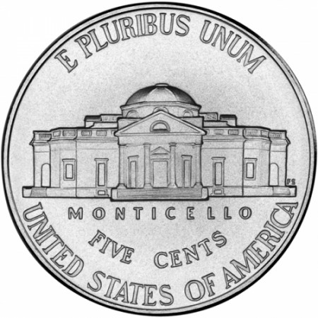 "2006 * 5 Cents Nickel of Dollar United States ""Jefferson Nickel - Monticello"" (KM 381) UNC"