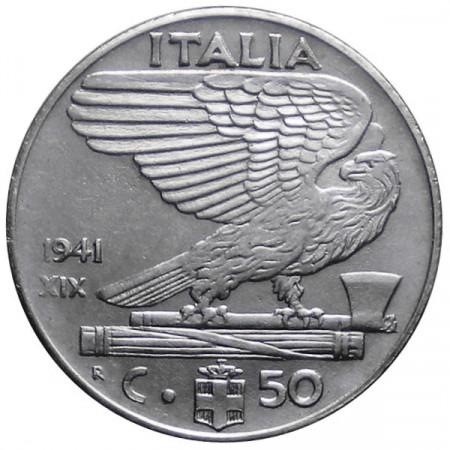 """1941 XIX * 50 Cents Italy Victor Emmanuel III """"Impero"""" UNC"""