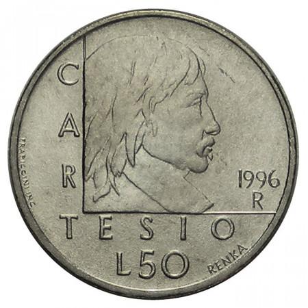 "1996 * 50 Lire San Marino ""René Descartes"" (KM 354) UNC"