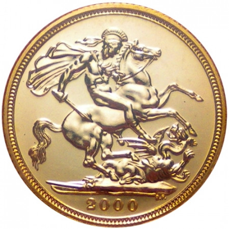 2000 * 1/2 Gold sovereign Great Britain St George