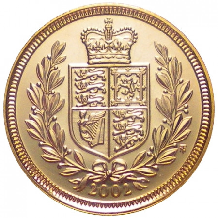 2002 * 1/2 Gold sovereign Great Britain Queen's jubilee