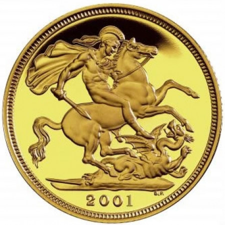 2001 * 1/2 Gold sovereign Great Britain St George