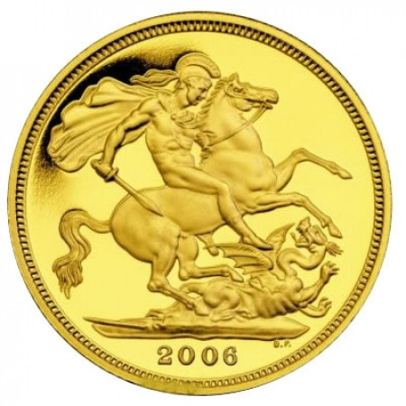 2006 * 1/2 Gold sovereign Great Britain St George