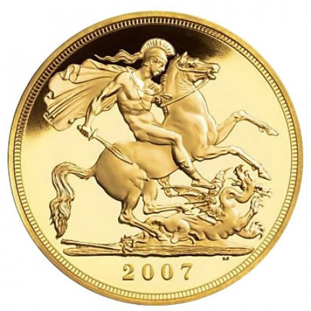2007 * 1/2 Gold sovereign Great Britain St George