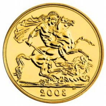 2008 * 1/2 Gold sovereign Great Britain St George