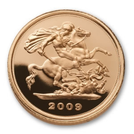 2009 * 1/2 Gold sovereign Great Britain St George