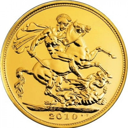 2010 * 1/2 Gold sovereign Great Britain St George