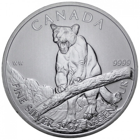 2012 * 5 Silver dollars 1 OZ Canada Cougar